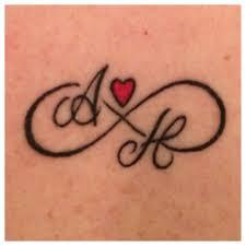 Infinity Symbol Tattoo With My Twins Initials Tattoo Tatuajes De