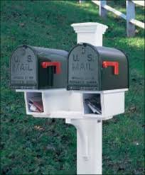 double mailbox designs. Double Twin Star Mail Post - Perfect For Multifamily Units, With Two Newspaper Boxes,. Mailbox DesignsMailbox Designs