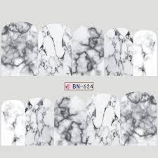 12 Disegni Adesivi Per Unghie Gradiente Marmo Modello Di