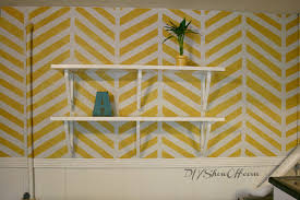 diy painting wallsHow to Paint and Stencil a Herringbone Accent WallDIY Show Off