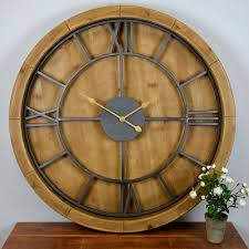 solid wood wall clock