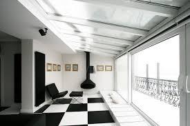 black and white office. Courtesy Of TOYA Design Black And White Office R