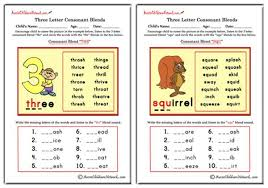 Worksheets of matching long and short vowel sounds with words. Three Letter Blends Beginning Consonant Blends Aussie Childcare Network