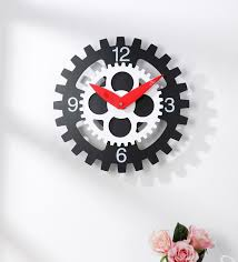 metal og centre gear wall clock