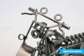 scrap metal art handmade nuts bolts model dirt bike gift