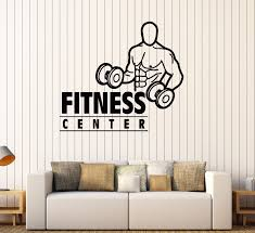 Vinyl Wall Decal Fitness Center Gym Bodybuilding Sports Stickers Mural  (484ig)