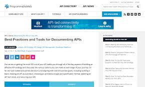Api Design Best Practices Best Practices And Tools For Documenting Apis