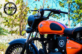royal enfield standard 350 is modified