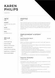 Sample Copy Of Resumes Copywriter Resume Guide Sample Resumeviking Com