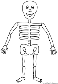 Small Picture Skeleton Coloring Page Halloween