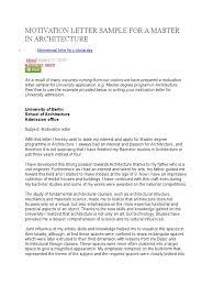 Cover Letter To University How Write Motivational Letter Choice Format Motivation