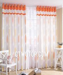 sheer white bedroom curtains. Patterned Designer Cheap White And Orange Bedroom Curtains Ideas Sheer