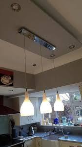 dar soho 3 pendant light white chrome 1 year old kitchen dining
