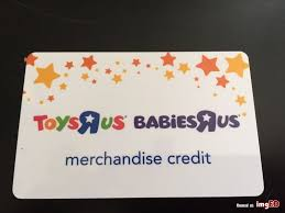 es r us toys r us gift card 46 16 merchandise credit