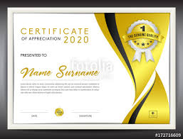Corporate Certificate Template Certificate Template Vector Illustration Diploma Layout In