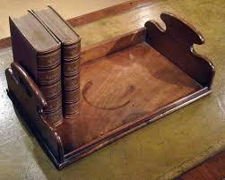 georgian gany desk top tray book stand