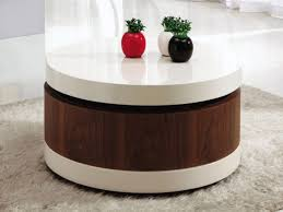 ... Redoubtable Round Coffee Table With Storage Round Coffee Table Storage  End Tables With Storage Space Storage