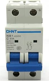<b>Chint</b> Solar NB1-63DC 63A 500V DC MCB (<b>Miniature</b> Circuit ...