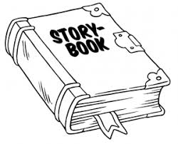story book clipart black and white