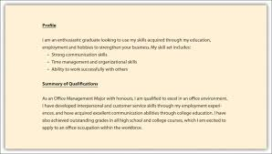 Career Summary Examples Career Overview Resume Examples Musiccityspiritsandcocktail Com