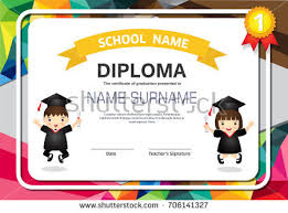 Children Certificate Template Diploma Certificate For Kids Download Free Vector Art Stock