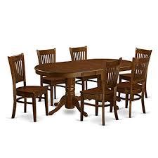 east west furniture vanc7 esp w 7 piece dining table set