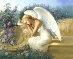 angel garden. Serenity\u0027s Garden, Angel Art, Paintings By Renowned Painter Ed Tadiello. Garden