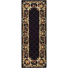 safavieh chelsea black 3 ft x 6 ft runner rug