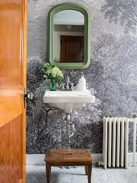 Image Removable Wallpaper Installing Wallpaper In Bathroom Hgtvcom How To Install Wallpaper In Bathroom Hgtv