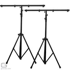 adj lts 6 t bar dj lighting equipment stand pair package
