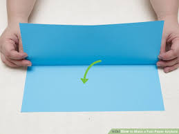 how to make a fast paper airplane steps pictures  image titled make a fast paper airplane step 2