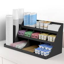 office coffee station. Condiment Organizer Rack Coffee Station Storage Office Break Room 14 Compartment O