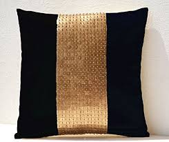 Black And Gold Pillow Covers