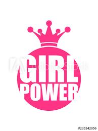 Prinzessin Königin Krone Kreis Rund Girl Power Text Spruch Cool