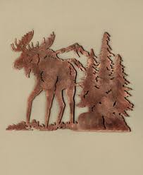 image is loading metal die cut moose silhouette wall art wildlife  on die cut metal wall art with metal die cut moose silhouette wall art wildlife cabin lodge rustic