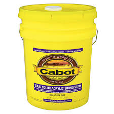 5 Gal Cabot Stains 0806 Neutral Base Provt Solid Color Acrylic Siding Stain