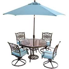traditions 5 piece outdoor dining set with round