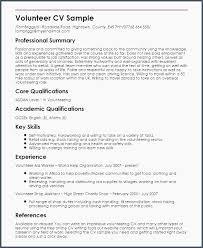 Resume Sample For Volunteer Work Volunteer Work On Resume Example