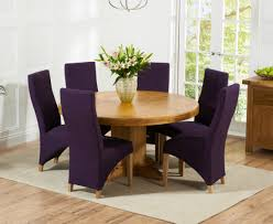 Torino 150cm Solid Oak Round Pedestal Dining Table With Henley