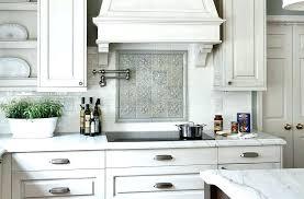 for white cabinets geometric tile kitchen backsplash bathroom