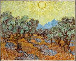 modern style famous postmodern paintings and olive trees vincent van