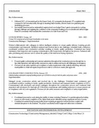 Construction Project Manager Resume Examples It Sample Pdf Nice