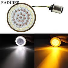 "FADUIES Motorcycle Light <b>2</b>"" <b>Bullet</b> Style <b>1157 LED</b> Inserts Turn ..."