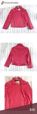 Hollister Jacket Size Chart Hollister Moto Jacket Size Large Gorgeous Coral Pink Like