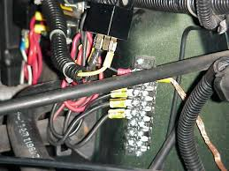 12v aux fuseblock the terminal strip has a shorting bar that connects all of the contacts on one side together in the above picture you can see the large copper braided
