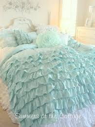 light blue ruffle bedding ruffle bedding ideas vintage beddi on linen ruffled korean style light blue