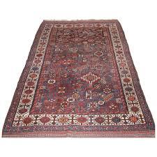 antique persian rug by the luri tribe shekarlu design grey blue circa 1900