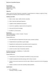 electronic assembler resume sample electronic