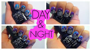 COLOR CHANGING Gel Polish City Skyline DAY AND NIGHT Nail Art ...