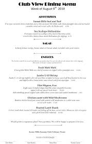 Fine Dining Resume Samples Fine Dining Server Resume Fine Dining
